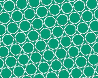 ON SALE - Mini Pearl Bracelets in Swiss Chard - Lizzy House for Andover Fabrics - A-7829-G3 - 1/2 Yard