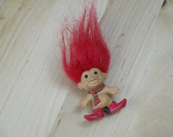 Vintage Russ Christmas Troll Pencil Topper