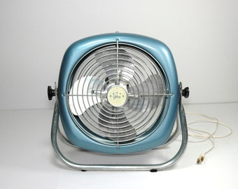 Vintage Galaxy Floor Fan Sparkle Blue Tilting