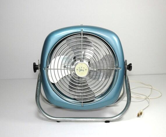 Galaxy Floor Fan : Vintage galaxy floor fan sparkle blue tilting