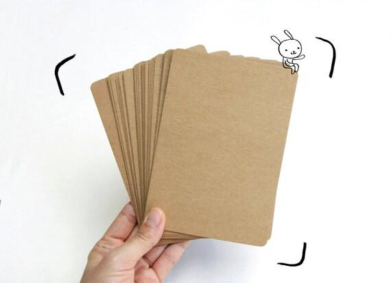 carte postale kraft