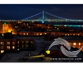 Verrazano Bridge, brooklyn, nyc, bay ridge, noir, elevation, cityscape, architecture, lights, darkness, night, mysterious, atmosphere, mood