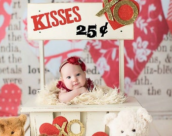 LIMITED EDITION Vintage Stand Prop, Kissing Booth Prop, Newborn Photo Prop, Photography Prop