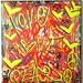"CHRIS RIGGS Original Love Peace fine art painting 42"" x 40"" pop street art spray paint NYC acrylic contemporary modern art urban canvas"