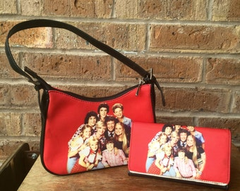 Unique Brady Bunch Purse with matching Wallet