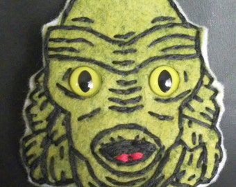 Creature from the Black Lagoon felt brooch