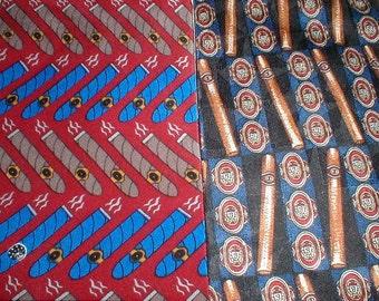 Two Silk Cigar Print Neckties *Jones New York*Vicky Davies* Cool Ties!