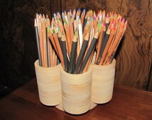 7 Cup Studio Rotating Colored Pencil Storage Holder Organizer, Holds 200+ Pencils - Makeup Brushes, Arts and Craft Supplies. Paint Brushes