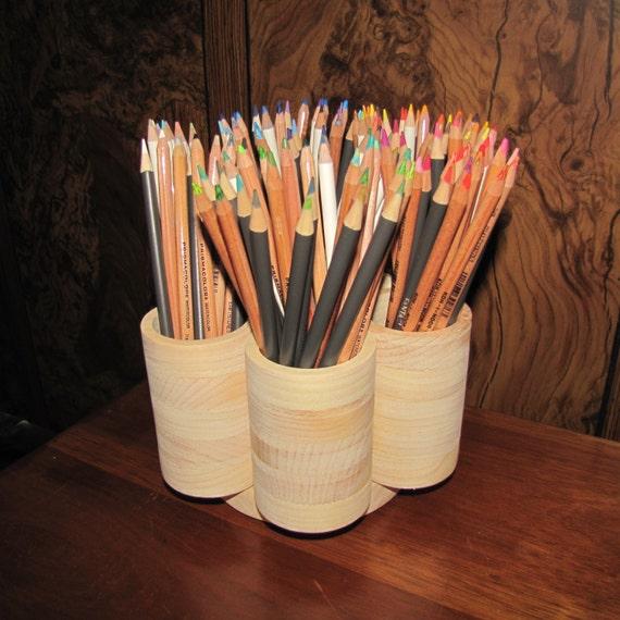 7 cup studio rotating colored pencil holder storage organizer. Black Bedroom Furniture Sets. Home Design Ideas