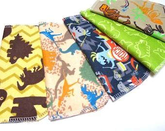 Cloth Napkins, 5 Dino Napkins, Boys Dinosaur Napkins, Dinosaur Kids Napkins, Unpaper Napkins for Kids, Children's Lunchbox Napkins