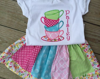 Tea Party birthday SHIRT ONLY