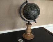 Antique Black & Brown Pin Globe