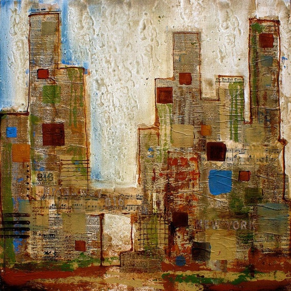 New York, Abstract. Canvas Print by Irena Orlov