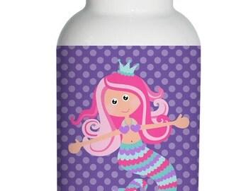 mermaid Personalized Aluminum Water Bottle