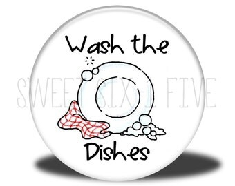 Wash the Dishes - Chore Magnet