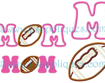 Instant Download - Football Embroidery Design - Football Mom embroidery applique design 4x4, 5x7, 6x10 hoops