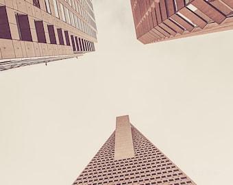 Architectural Art | San Francisco Buildings | Urban Photography | Wall Art | Home Decor | California | Vintage Tones