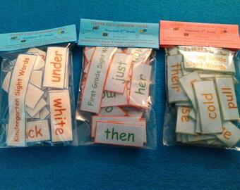 Felt Words - Kindergarten, First Grade, Second Grade - Felt Sets, Felt, Homeschool, Teacher Resources, Dolch Words, Sight Words, Montessori