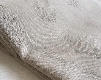 Turkish Towel Rug pattern Peshtemal towel Cotton Peshtemal Stone washed Vintage Inspired Beige Towel, genuine handloomed