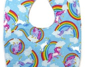 Unicorn Bib - Rainbow Baby Bib - Baby Girl Bibs - Toddler Girl Bibs - Dribble Bibs - Baby Girl Gifts - Geeky Bibs - Unicorn Birthday Bib