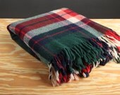 Vintage Wool Blanket for a Picnic or Warmth on a Cold Winter Day - Stadium - Lap - Warm Throw