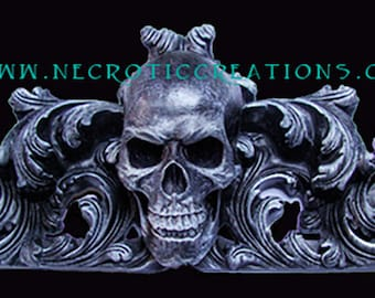 Gothic Wall Hanging with Skull