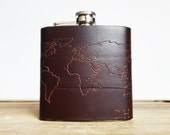 Personalised Atlas Hip Flask, Customised destination markers, the travellers hip flask