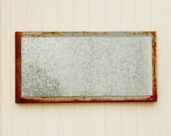 Industrial Medium Galvanized Metal Memo Board - Magnetic Memo Board