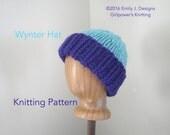 Super Chunky Hat Knitting Pattern, Easy Knit Pattern, Warm Winter Beanie Watch Cap, Kids Teens Women Men