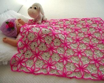 Crochet blanket pattern BABY BLANKET Crochet Pattern flowers blanket  Princessa Blanket - Baby Blanket handmade pdf pattern instant download