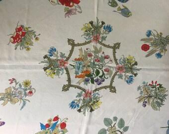 Vintage Authentic Gucci Silk Crepe Scarf