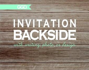 Matching Invitation Backside