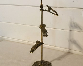 Vintage Victorian Glo Mar Artworks Inc. Brass Glove,Hands Clip Holder,Business Crd Stand,Photo Display