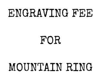 ENGRAVING for Mountain Jewelry