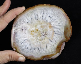 "Multipack 3.5-5"" agate slices natural colors polished thin slabs natural gemstone good for coasters and table markers"