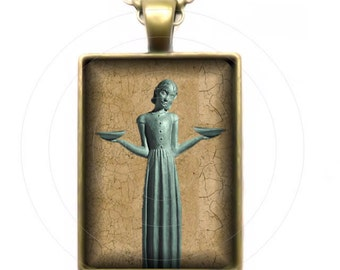 The Bird Girl of Savannah - Digital Art - Your Choice of Backpack Clip, Key Ring, or Pendant