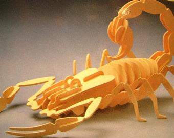 Wooden Puzzle Toy Scorpion Insecterior Dom Space Design Tatsuya Kodaka 1981 Wood Sculpture