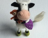 Milly, Black and White Cow, Custom Order only by Marina Lubomirsky