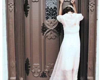 Featured in LUCKY & VELVET Mag online. - 20s Pink Wedding Dress.