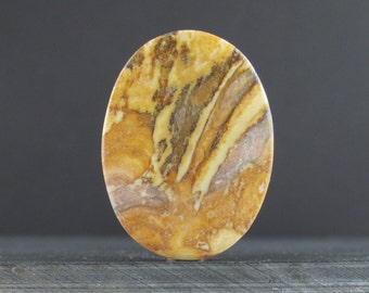 Oval jasper cabochon, Natural stone, Jewelry making supplies S7135