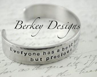 Best Friend Secret Message Hand Stamped Bracelet- Personalized Bracelet