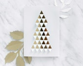 Folded Triangles Christmas Tree Greetings Card