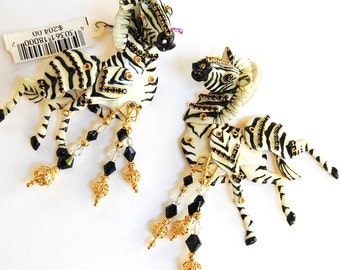 Lunch at The Ritz Born to be Wild Earrings