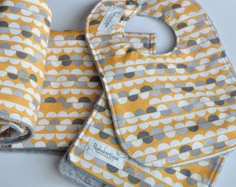 Gender Neutral Baby Blanket, Baby Blanket,  Minky blanket, Blanket gift set