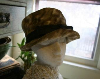 Flapper Hat Faux Fur Flapper Era Roaring Twenties Costume Hat Cloche Hat