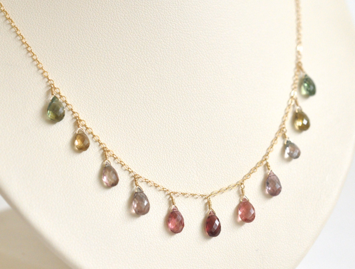 watermelon tourmaline necklace pink and green tourmaline. Black Bedroom Furniture Sets. Home Design Ideas