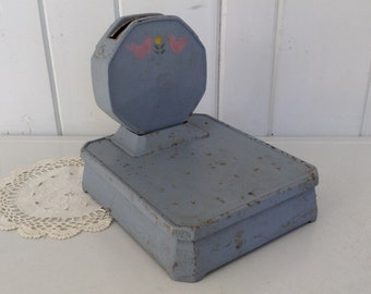 antique detecto scale cast iron painted blue jacobs bros co inc - Detecto Scales
