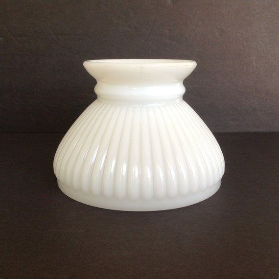 small white milk glass replacement student shade lamp globe. Black Bedroom Furniture Sets. Home Design Ideas