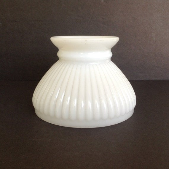 white milk glass replacement student shade lamp globe hurricane shade. Black Bedroom Furniture Sets. Home Design Ideas