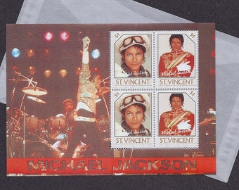 Michael Jackson Vintage Postage Stamps - Souvenir Sheet - St. Vincent - SC # 901 - Collectible, Ideal for Framing - MNH